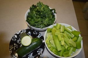 Zucchini,Kale, Celery (6)