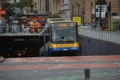 City bus emerging from underground tunnel (2)