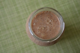 Pineapple, Banana, Peach, Almond Milk Cacao Nibs 004